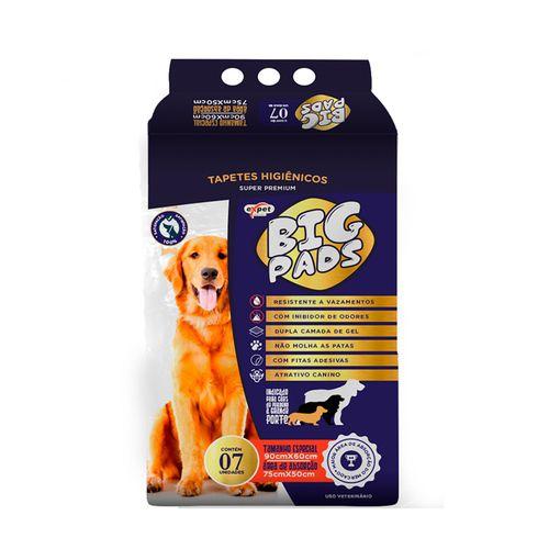 Tapete Higiênico Big Pads para Cães de todos os portes e idades 90 x 60 cm - Expet (7 unidades)