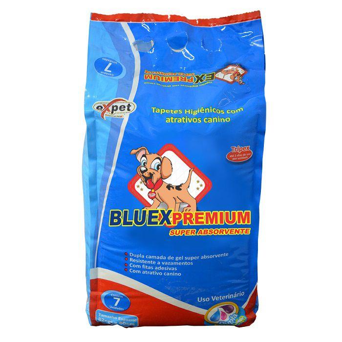 Tapete Higiênico Bluexpremium para Cães de todas as raças e idades 82 x 60 cm - Expet (7 unidades)