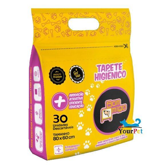 Tapete Higiênico Bom Amigo Super Absorvente para Cães de todas as raças e idades 80 x 60 cm - Bom Amigo (30 unidades)