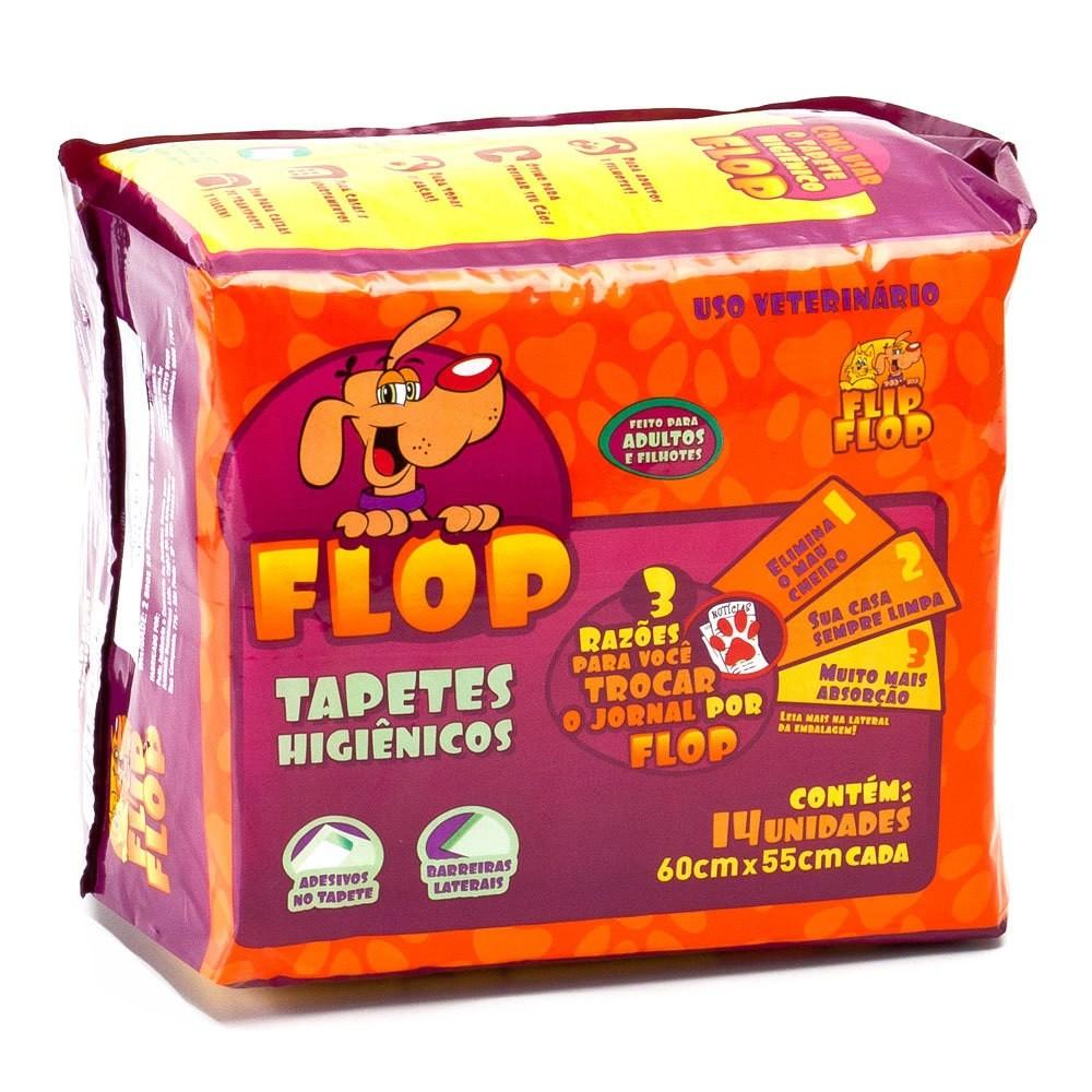 Tapete Higiênico Flop para Cães de todas as raças e idades 60 x 55 cm - Petix (14 unidades)