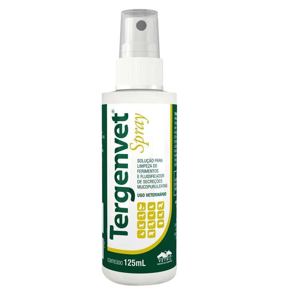 Tergenvet Spray Solução para limpeza de ferimentos - Vetnil (125ml)