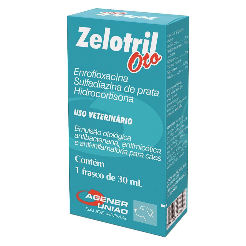 Zelotril Oto - Emulsão otológica antibacteriana, antimicótica e anti-inflamatória para Cães - Agener (30ml)