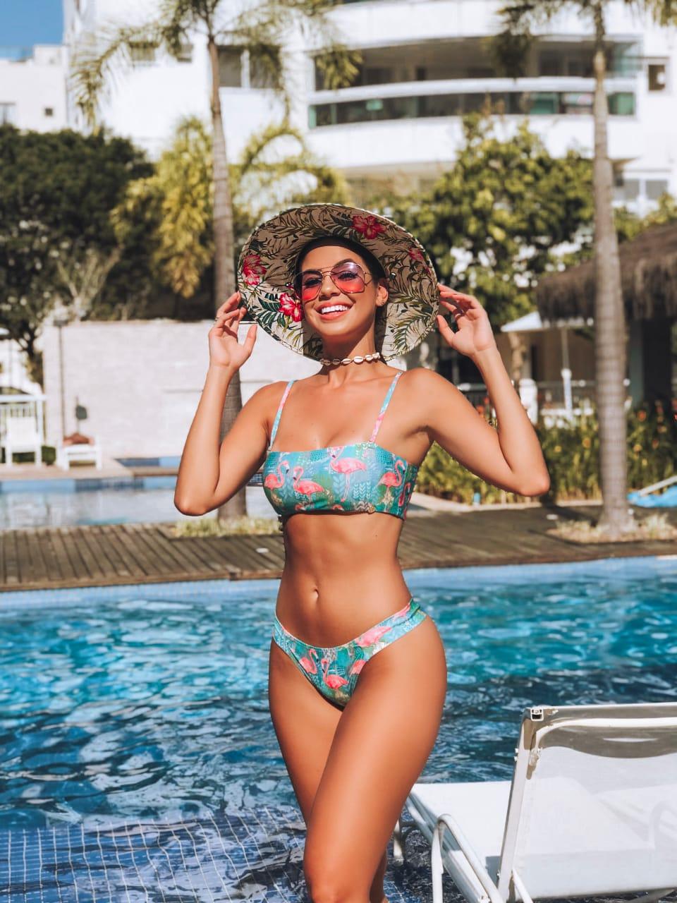 48f8a52afada Cj. Biquíni Top Faixa Flamingos - Belazary - Moda Praia em Goiânia ...