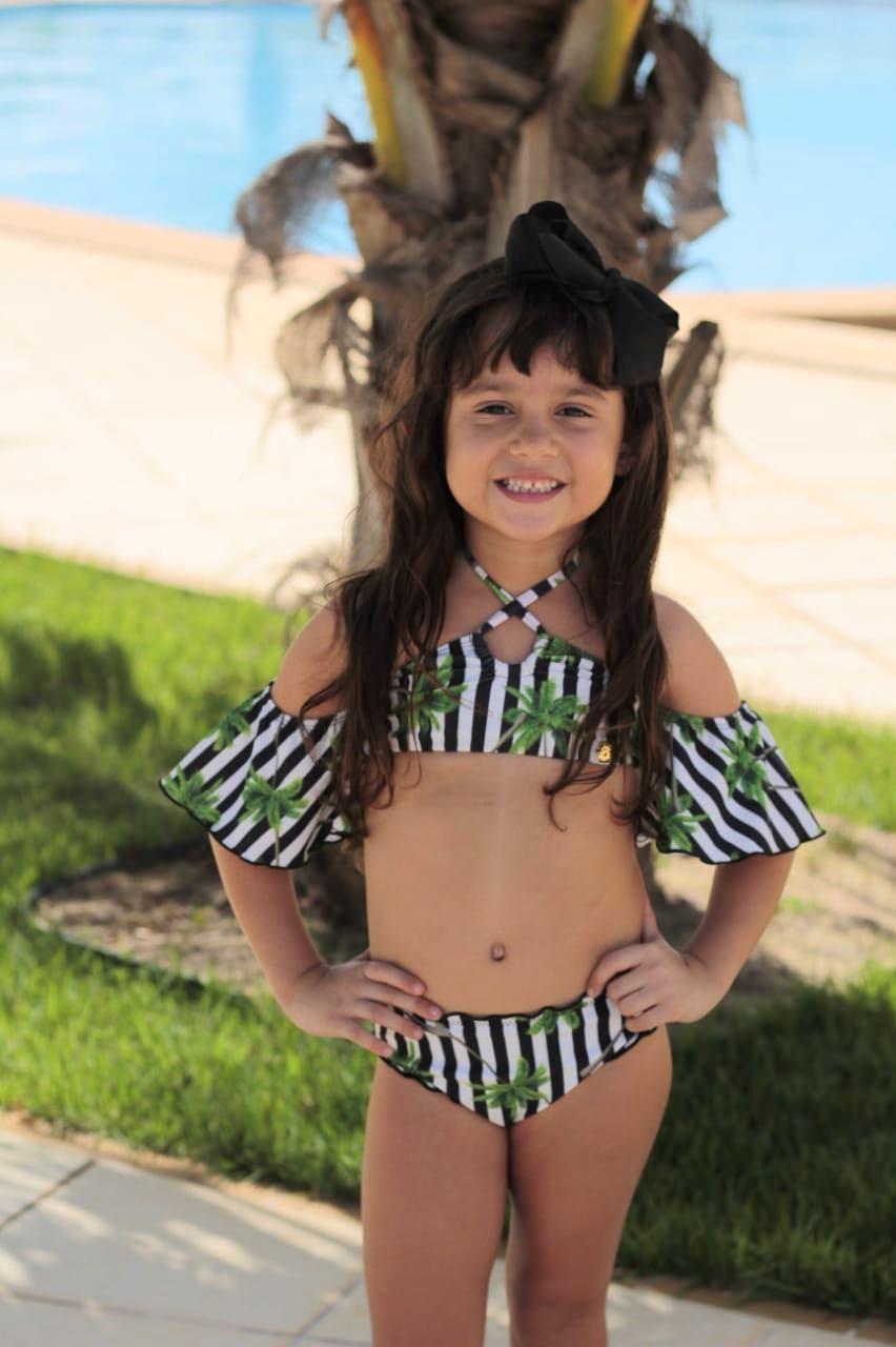 Biquíni Cropped Babalu Infantil Coqueiros - Belazary - Moda Praia em ... a11e2b0d20