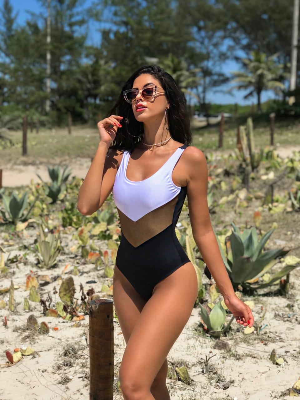 5461ee6292 Belazary Moda Praia - Biquíni top cruzado com