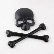 Adesivo 3D - Skull - Preto