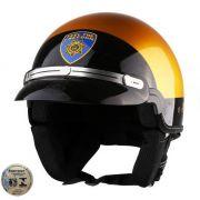 Capacete Kraft Sheriff Dourado Custom