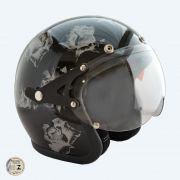 Capacete Kraft Old School - Black Flower