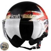 Capacete Kraft Plus Bandeira Inglaterra - Fosco