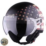 Capacete Kraft Plus Bandeira USA - Fosco