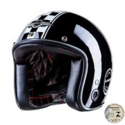 Capacete Lucca Customs Glossy Black