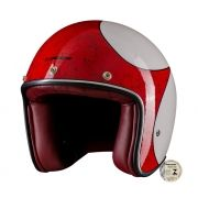 Capacete Lucca Customs Glossy White Red