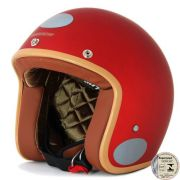 Capacete Lucca Customs Matt Cherry + 2 Viseiras Bolha