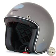 Capacete Lucca Customs Metalic Matt Grey + 2 Viseiras Bolha