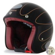 Capacete Lucca Customs Mud Black Gold