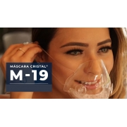 Kit 2 Mascaras Transparentes Com Filtro M19 Lavável Vedação 100%