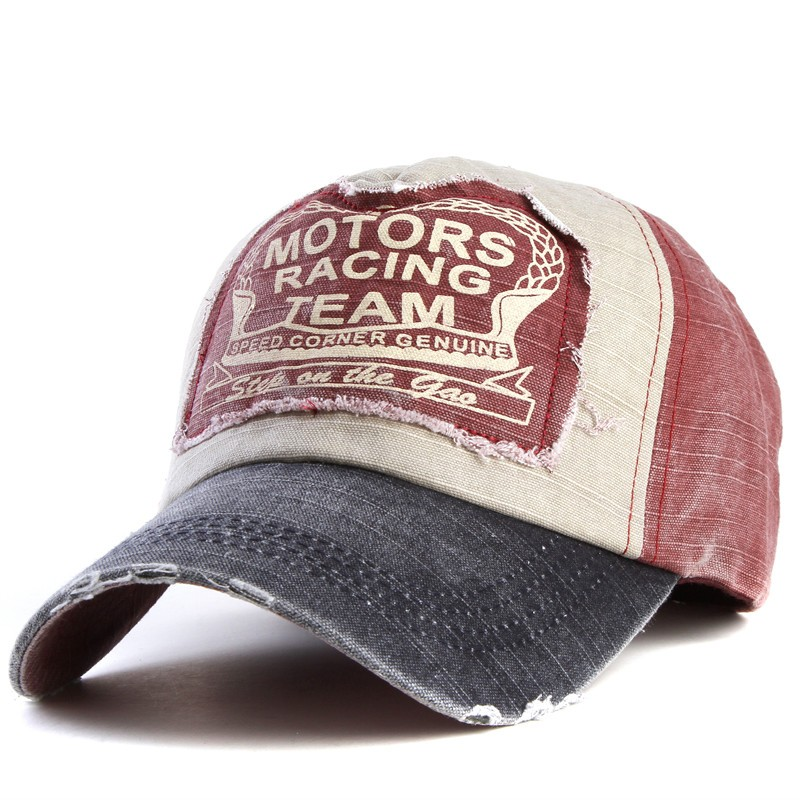 Boné Vintage Old School - Motors Racing Club - Red