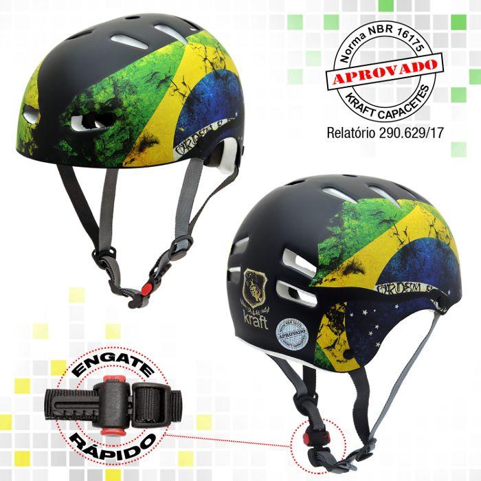 Capacete Kraft Bike Brasil - Fosco