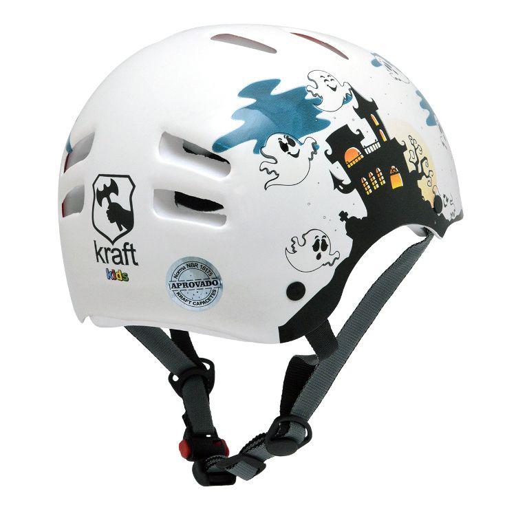 Capacete Kraft Bike Fantasminha - Branco
