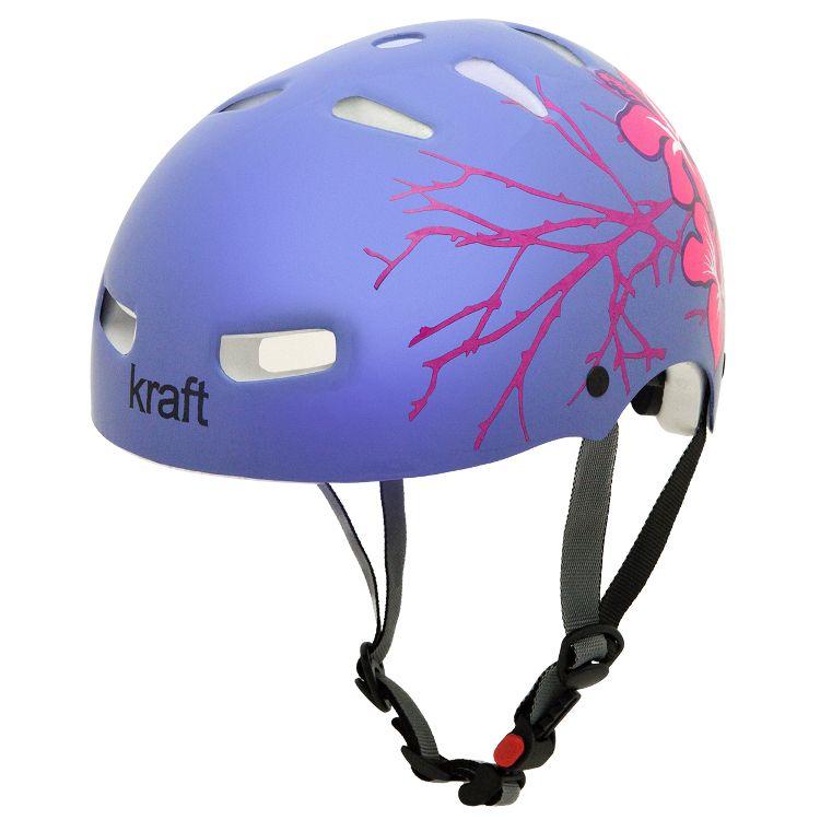 Capacete Kraft Bike Flower