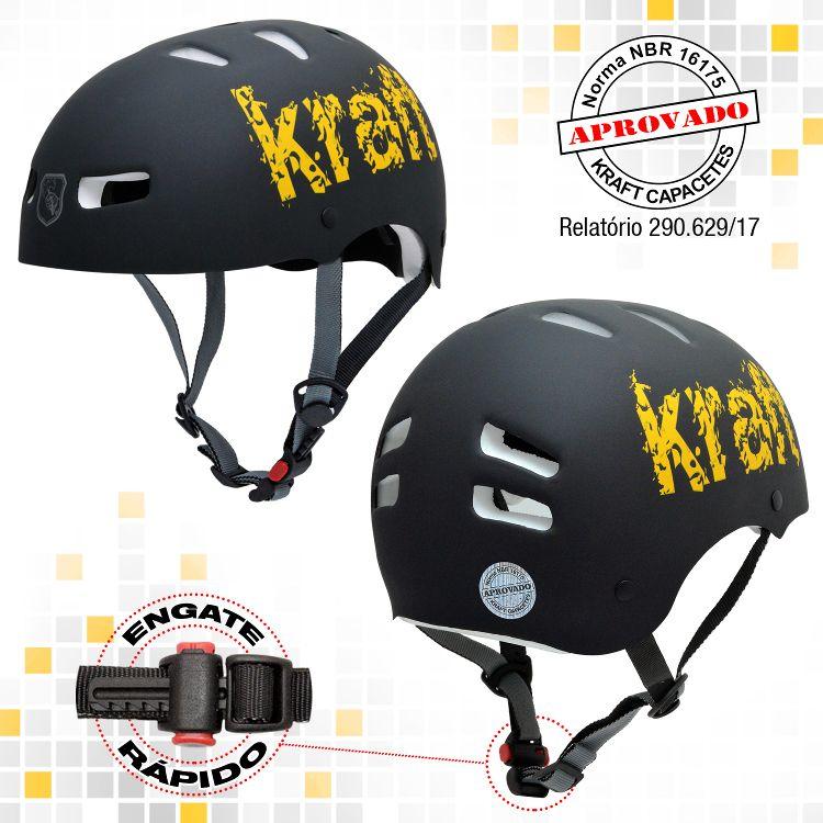 Capacete Kraft Bike Preto Fosco