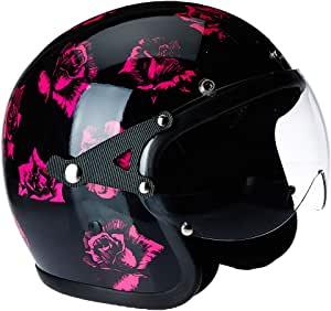 Capacete Kraft Old School - Black/Pink Flower