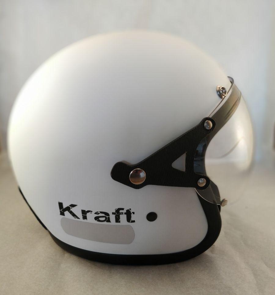 Capacete Kraft Old School - Branco fosco