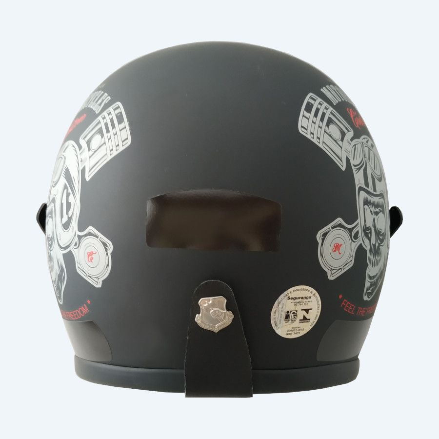 Capacete Kraft Old School - Custom Black