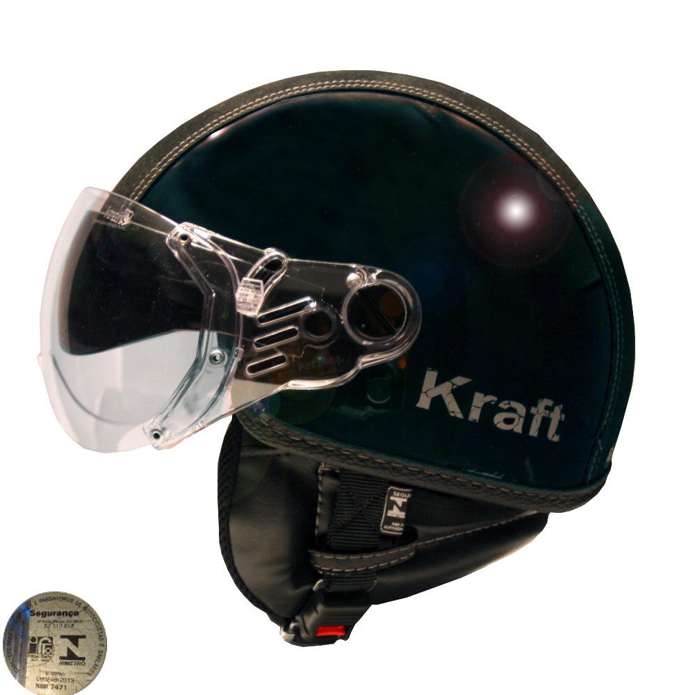 Capacete Kraft Plus Semi-Revestido Preto