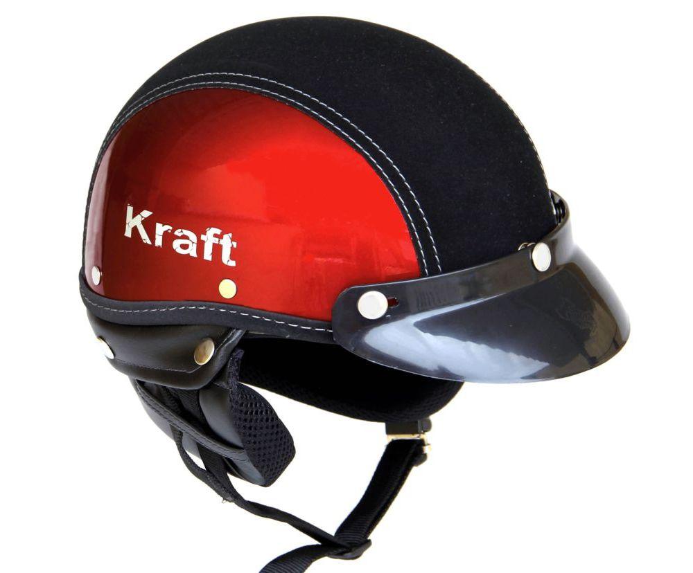 Capacete Kraft Sport Semi-Revestido Cereja