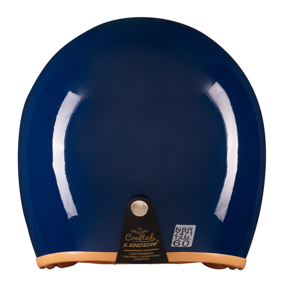 Capacete Lucca Customs Glossy Dark Blue + 2 Viseiras Bolha