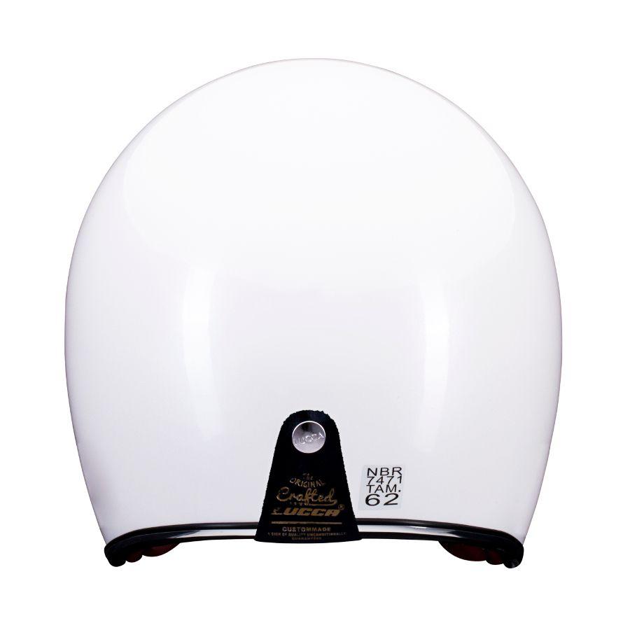 Capacete Lucca Customs Glossy Pearl White + 2 Viseiras Bolha