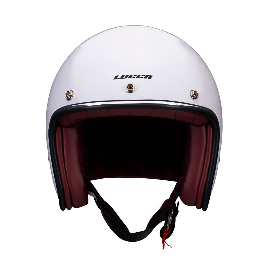 Capacete Lucca Customs Glossy Pearl White