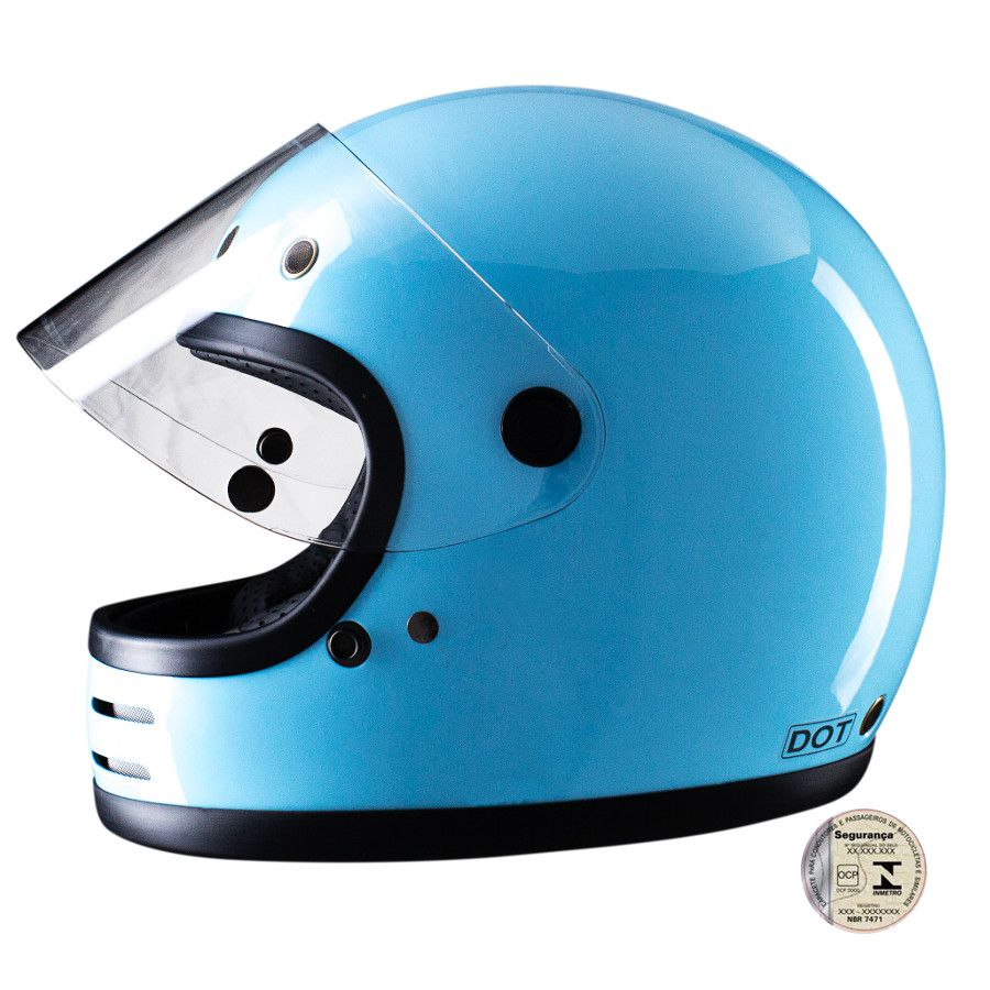 Capacete Lucca Customs Magno V2 -  Blue