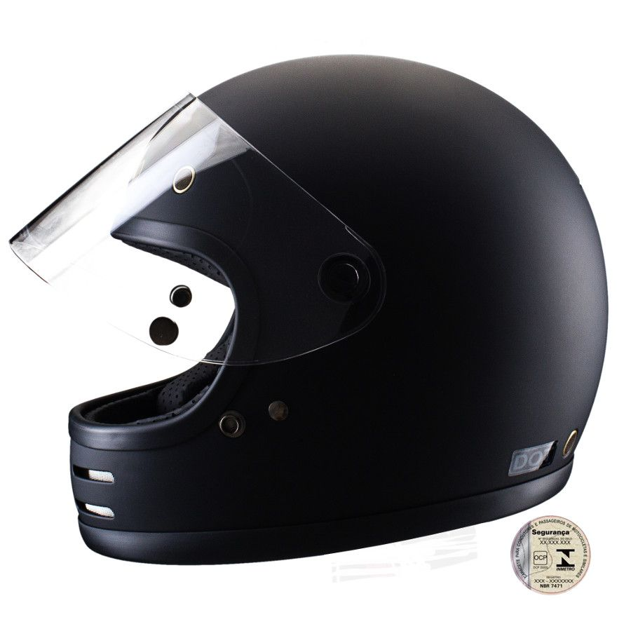 Capacete Lucca Customs Magno V2 -  Matt Black