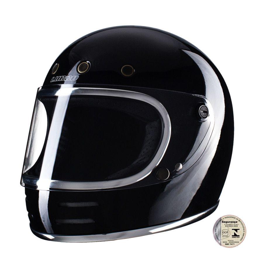 Capacete Lucca Customs Magno V2 -  Black