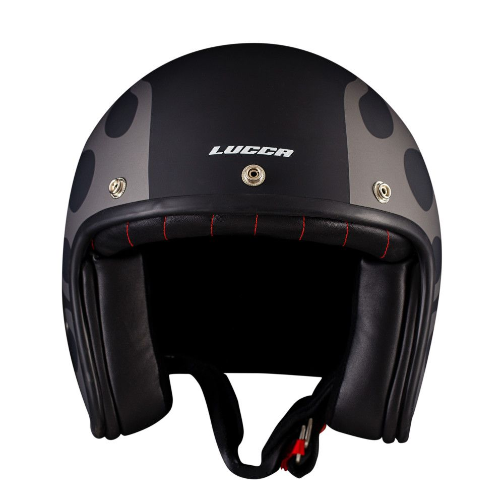 Capacete Lucca Customs Matt Black Gray