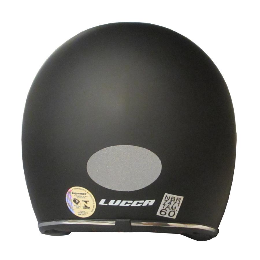 Capacete Lucca Customs Matt Black (Preto Fosco) + 2 Viseiras Bolha