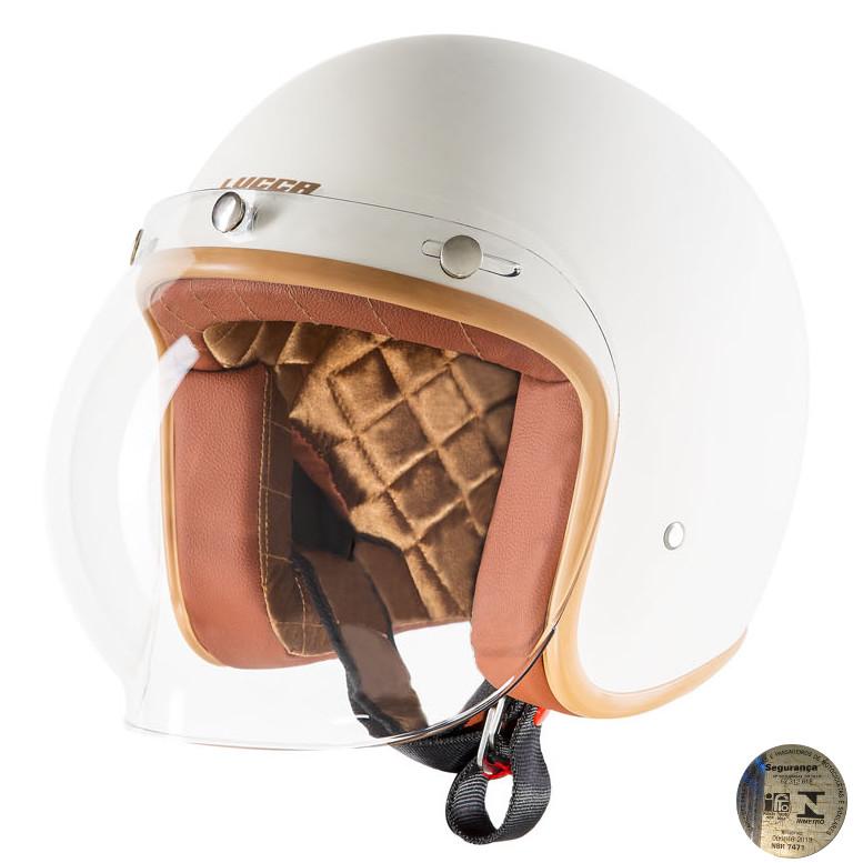 Capacete Lucca Customs Matt Cream -  Fosco