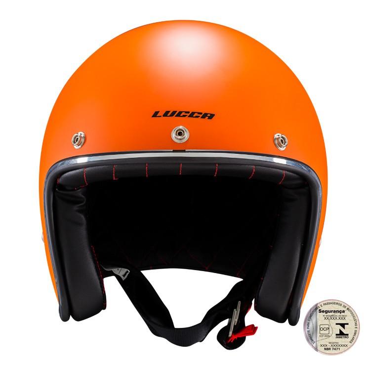 Capacete Lucca Customs Matt Orange
