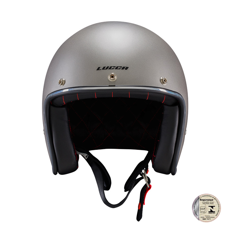 Capacete Lucca Customs Metalic Matt Grey
