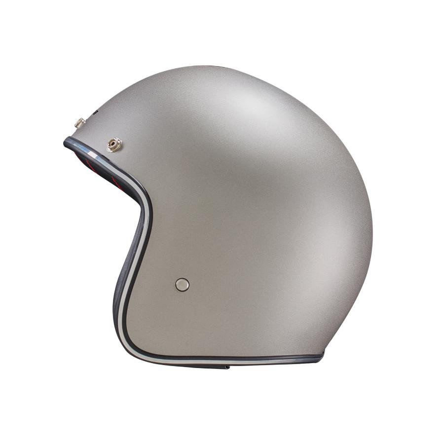Capacete Lucca Customs Metalic Matt Grey + 2 Viseiras Bolha