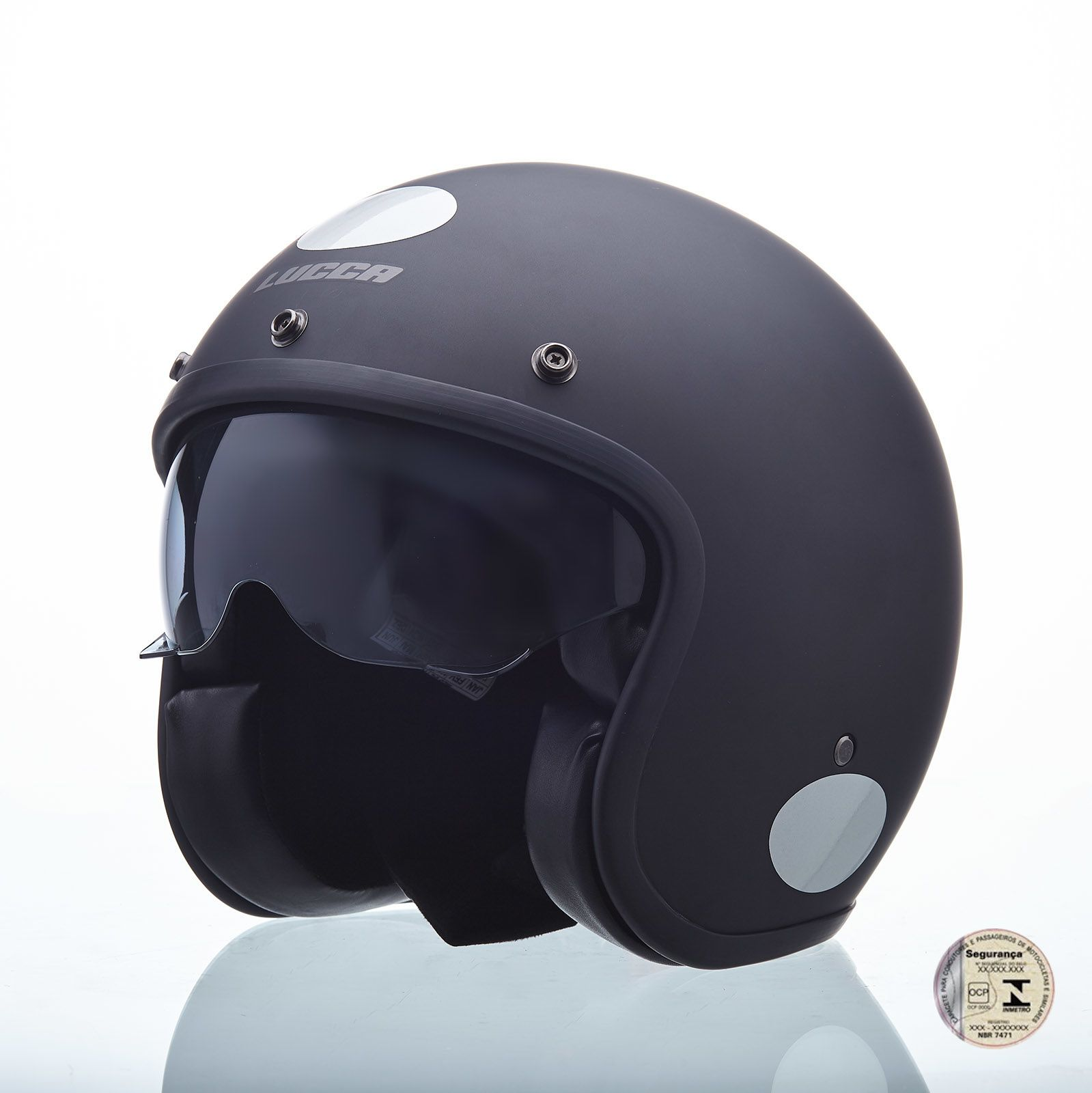 Capacete Lucca Customs Sublime Blackout