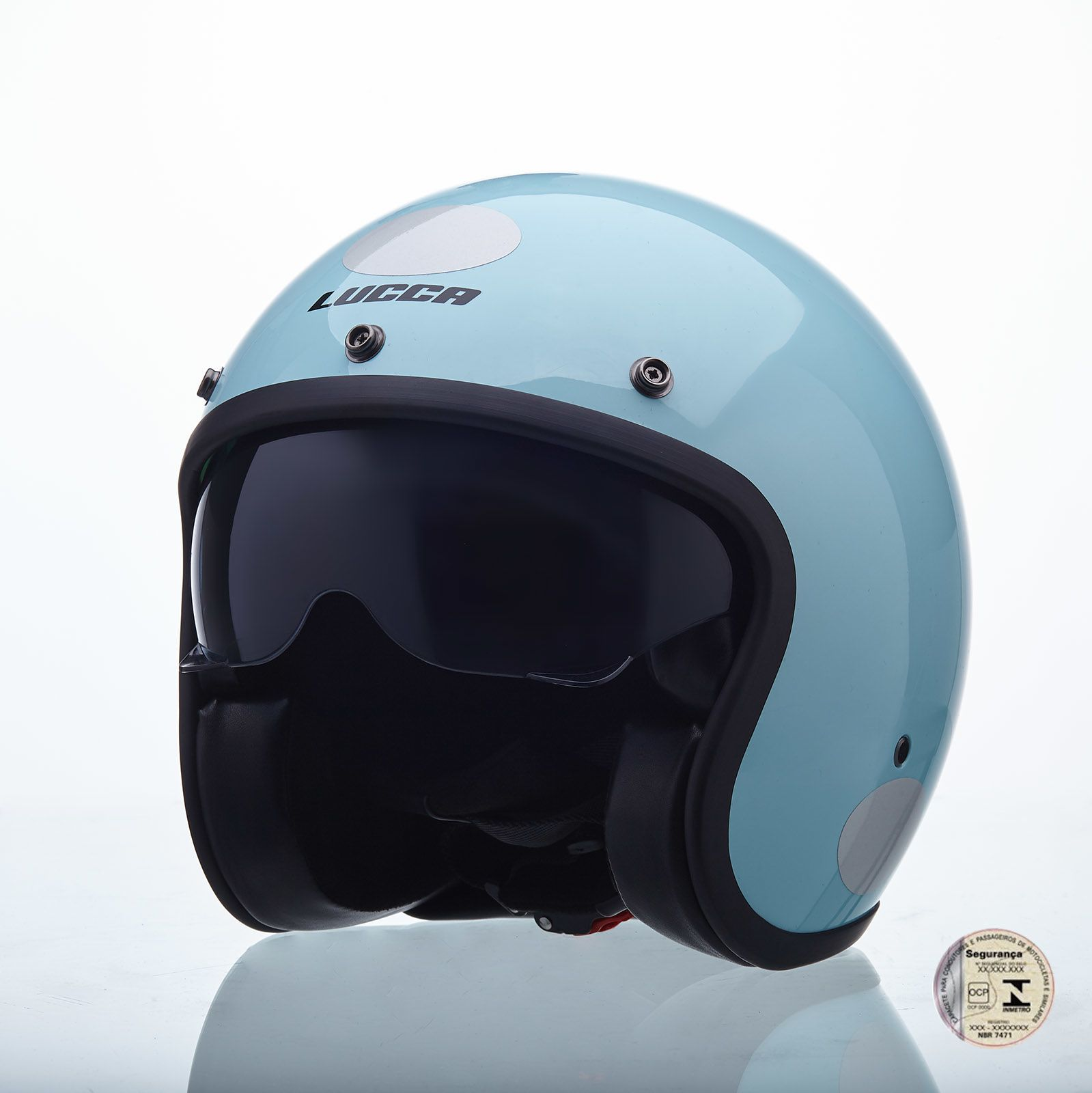 Capacete Lucca Customs Sublime Candy Blue
