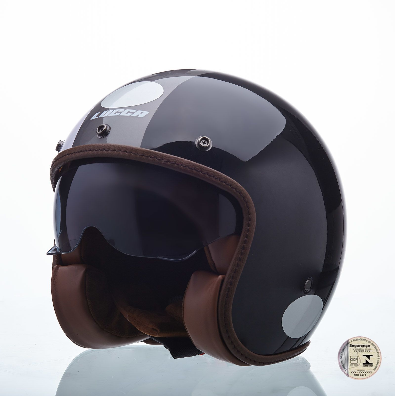 Capacete Lucca Customs Sublime Shades - Com Viseira Bolha