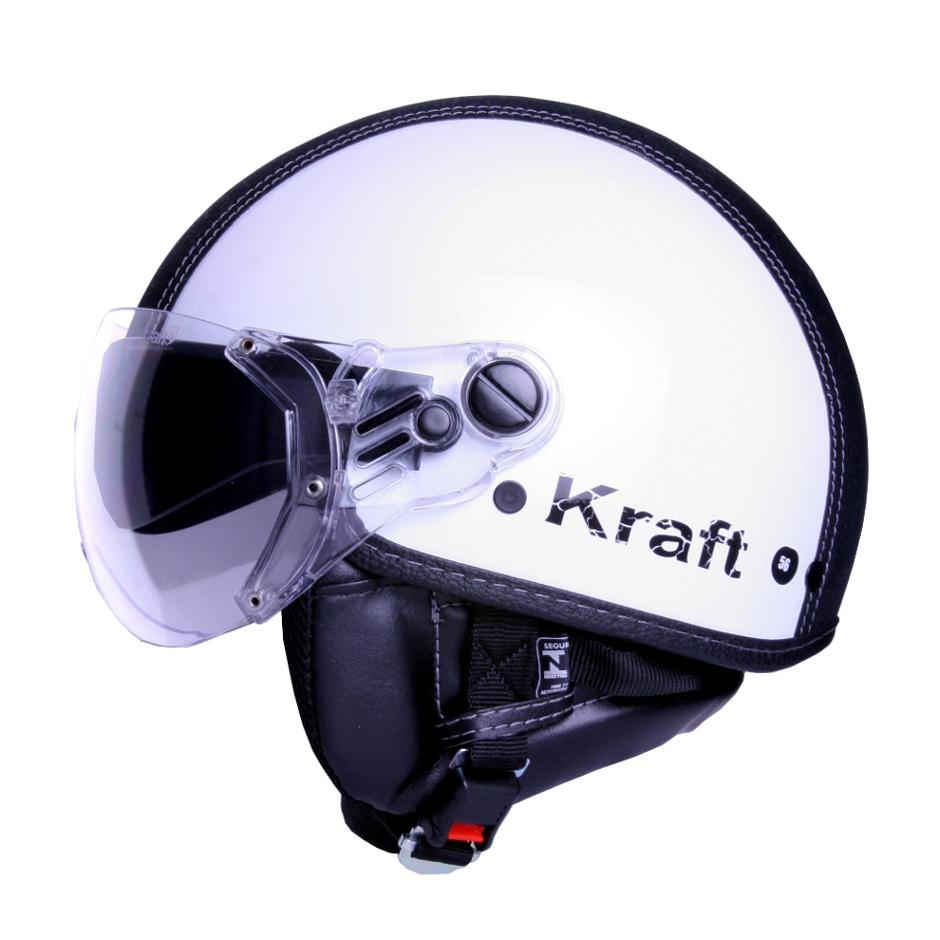 Capacete Kraft Plus Semi-Revestido Branco