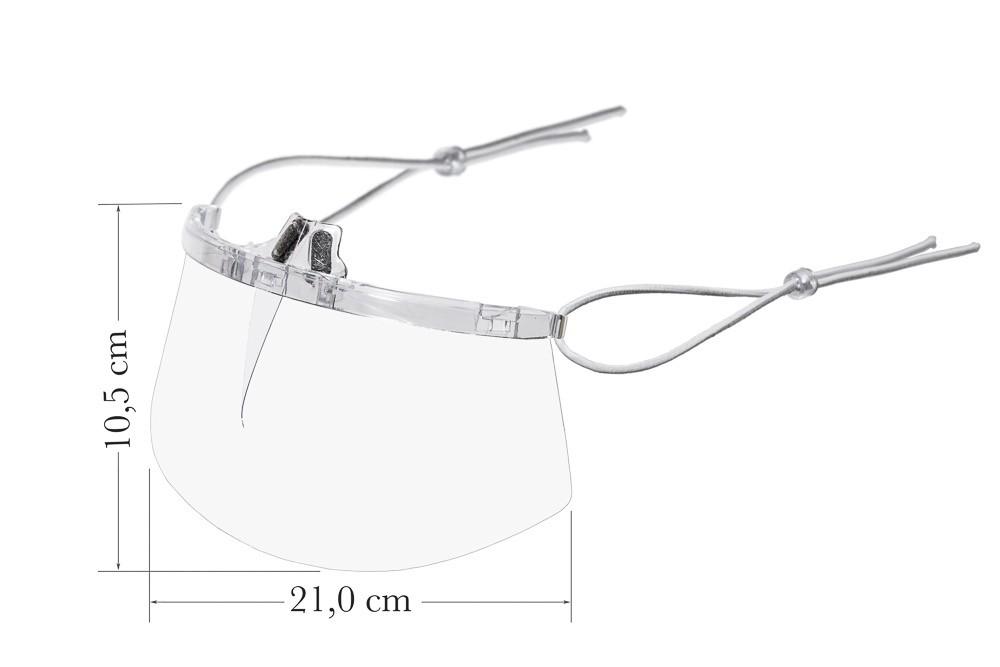 Kit 2 Máscaras Transparentes - Lavável / Reutilizável - Apoio Nariz
