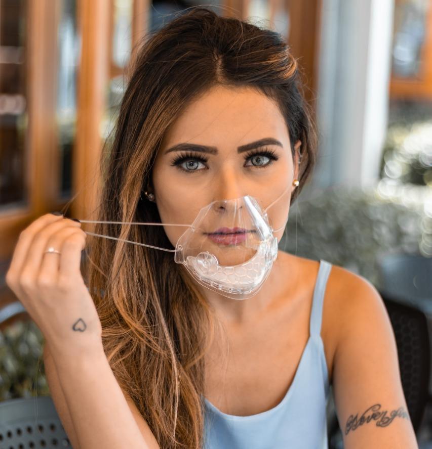 Mascara Transparente Com Filtro M19 Lavável Vedação 100%
