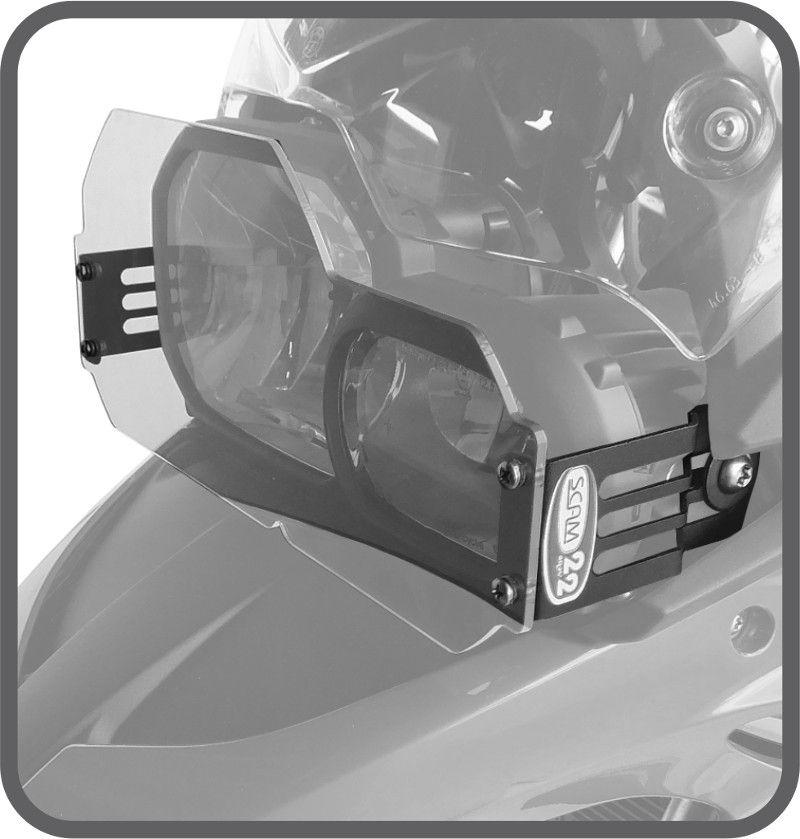 Protetor de Farol - Policarbonato BMW F700 GS