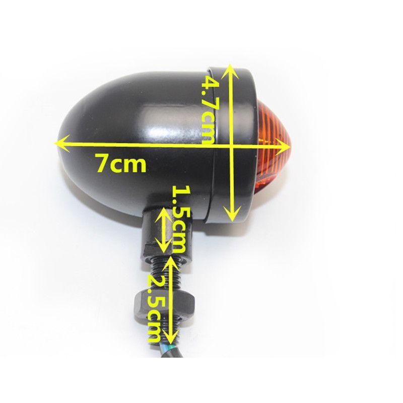 Setas - Piscas Modelo Big Bullet Silver
